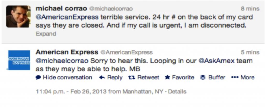 American Express Customer Service - Twitter