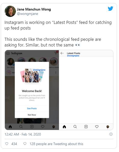 instagram latest post
