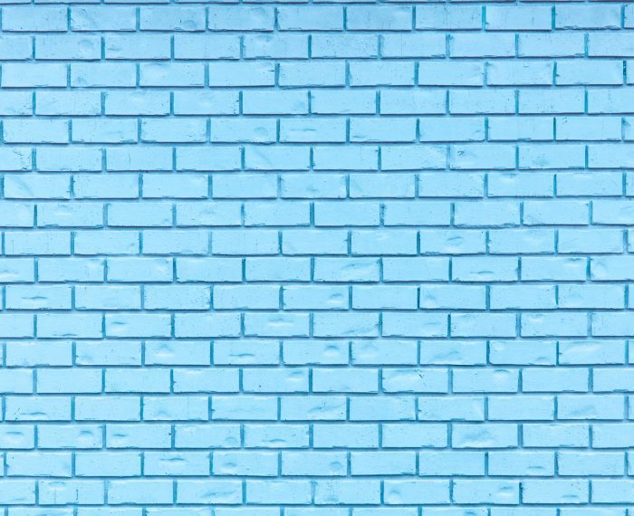 Light Blue brick wall for use as a background.